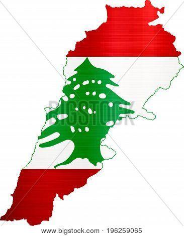 flag map lebanon illustration country  nation  design