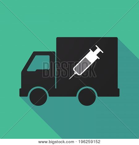 Long Shadow Truck With A Syringe