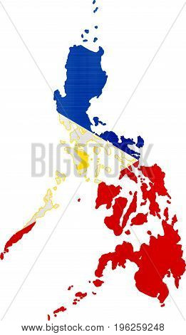 flag map philippines illustration country  nation  design
