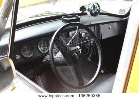 classic car Dashboard - Bad Pyrmont/Germany - 07/08/2017