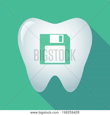 Long Shadow Tooth With A Floppy Disk