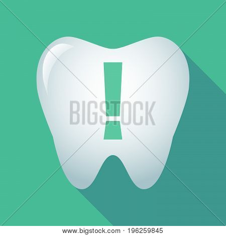 Long Shadow Tooth With An Admiration Sign