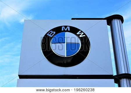An Image of a BMW logo - Hameln/Germany - 07/18/2017