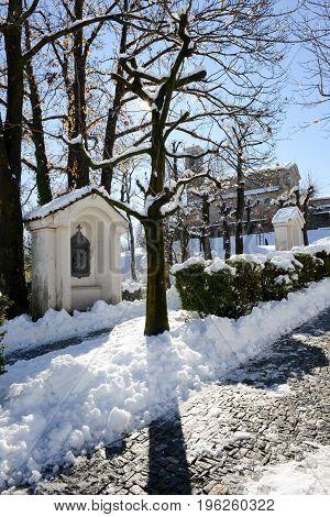 The Church At Breganzona Near Lugano On Switzerland
