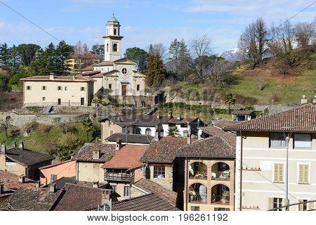Carabbia (Lugano),Switzerland - 19 february 2016: the rural village of Carabbia part of the city of Lugano on the italian part of Switzerland