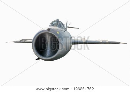 Military war plane. Plane isolated on white background.  airplane in flight. nobody
