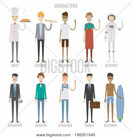 Characters Set | Set Vector & Photo (Free Trial) | Bigstock