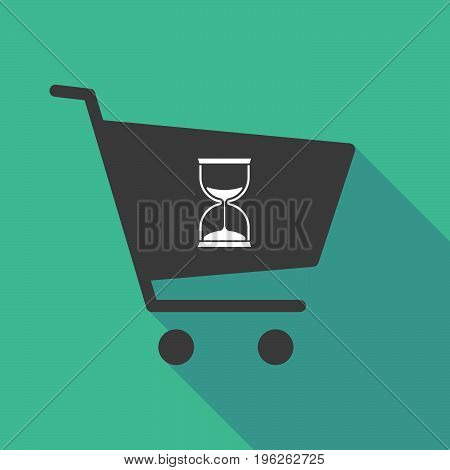 Long Shadow  Shopping Cart With A Sand Clock
