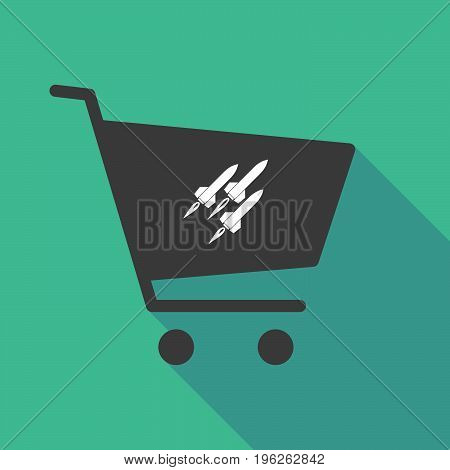 Long Shadow  Shopping Cart With Missiles