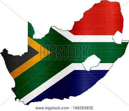 flag map south africa illustration country  nation  design