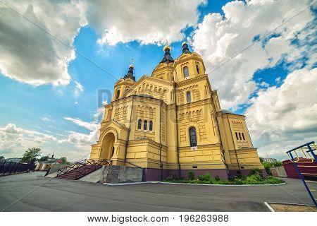 Cathedral of St. Alexander Nevskiy is orthodox church in Nizhny Novgorod, Russia