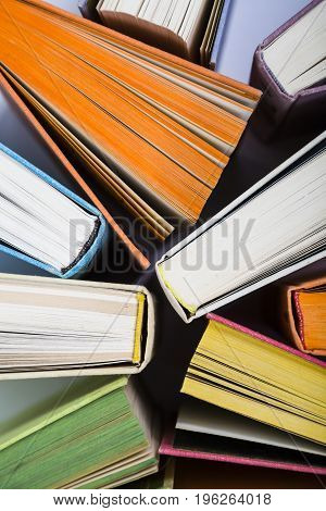 Multicolored Books, Top View