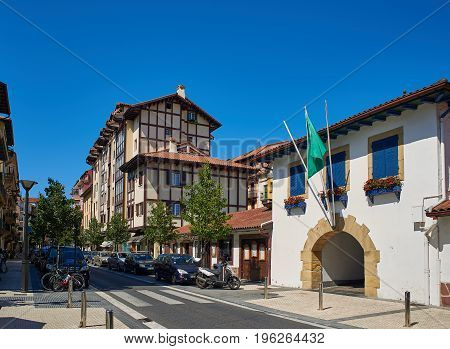 City Centre Of Hondarribia, Gipuzkoa, Basque Country, Spain.