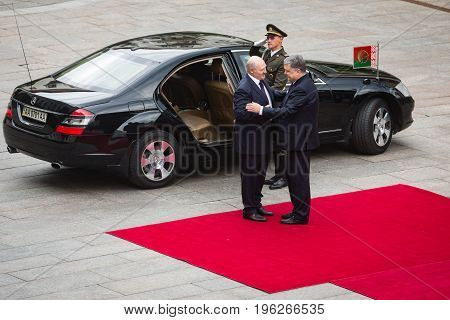 Petro Poroshenko And President Of Belarus Alexander Lukashenko