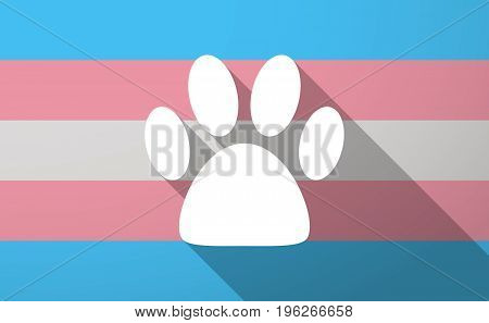 Long Shadow  Trans Gender Flag With An Animal Footprint
