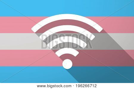Long Shadow  Trans Gender Flag With A Radio Signal Sign