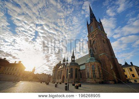 The Riddarholmen Church in Stockholm Sweden