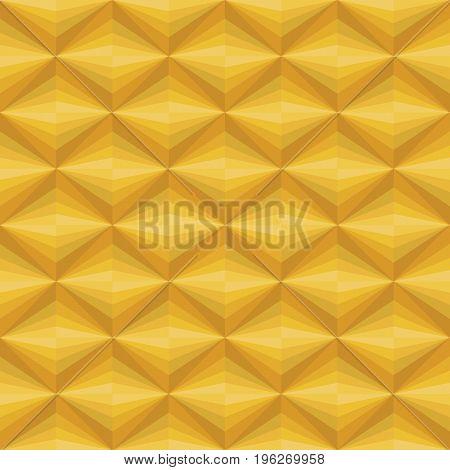 Yellow Gold abstract diamond shape pattern background vector art design