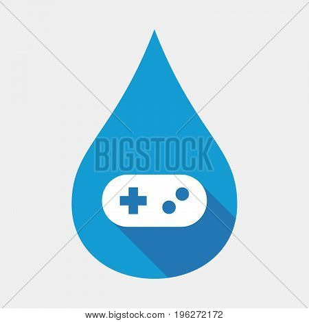 Isolated Water Drop With A Game Pad