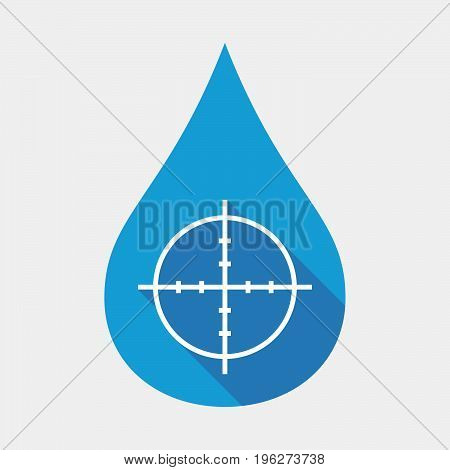 Isolated Water Drop With A Crosshair