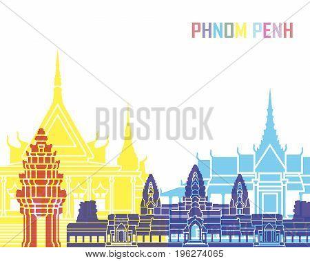 Phnom Penh Skyline Pop