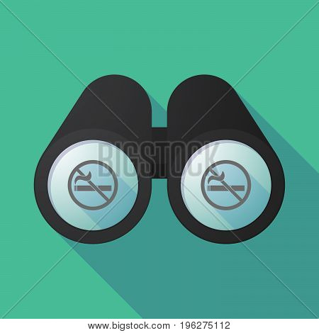 Long Shadow Binoculars With  A No Smoking Sign