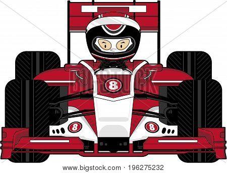 Driver In Motor Racing Car