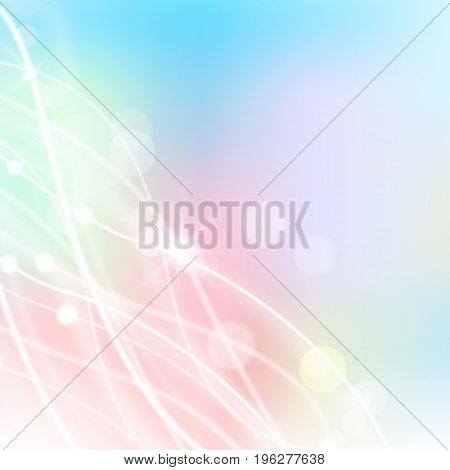 Flat abstract background for holidays in pastel colors with white lines and flecks vector illustration