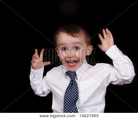 Adorable Little Boy Showing Expression Isolated