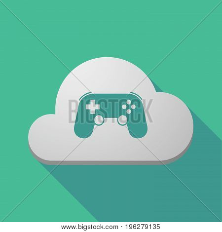 Long Shadow Cloud With  A Game Pad