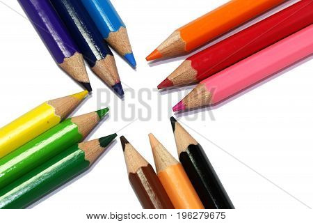 color pen texture  icon school  pencil colorful background pattern open