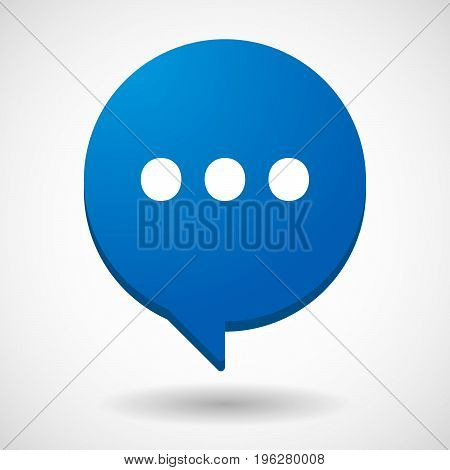 Isolated Comic Balloon With  An Ellipsis Orthographic Sign