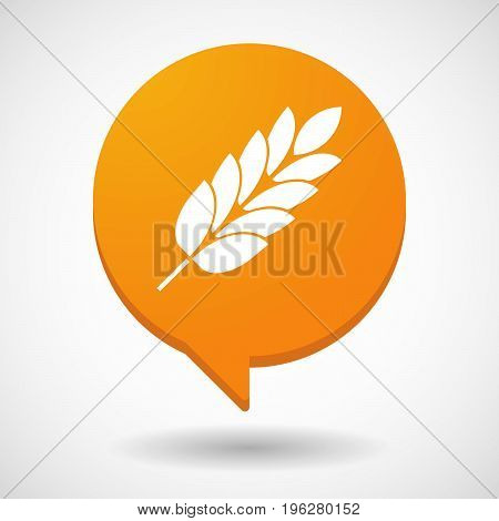 Isolated Comic Balloon With  A Wheat Plant Icon