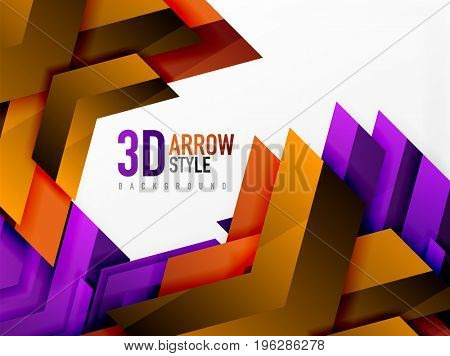 Techno arrow background, template design