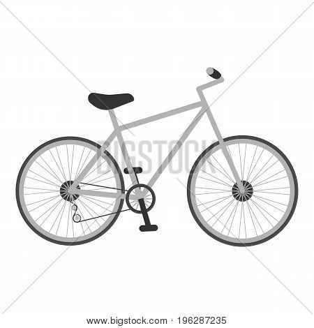Grey Bicycle For Kids Isolated On A White Background.