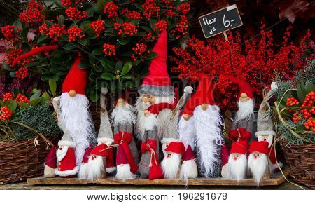 Santa doll at the stall of house decoration