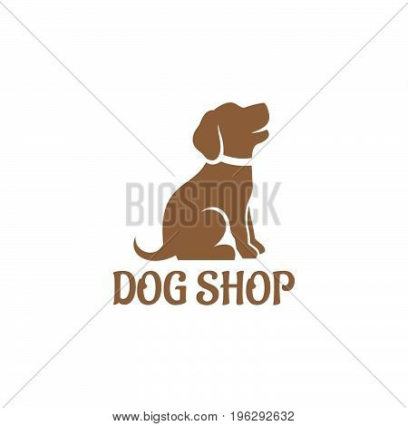 Dog Logo design vector template. Home pets care veterinary clinic Logotype concept icon.