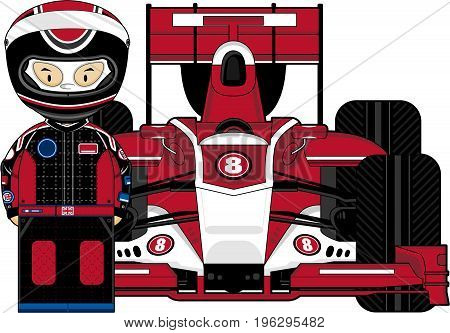 Red F1 Driver