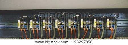 Colorful PLC Wires Connection in Panel System