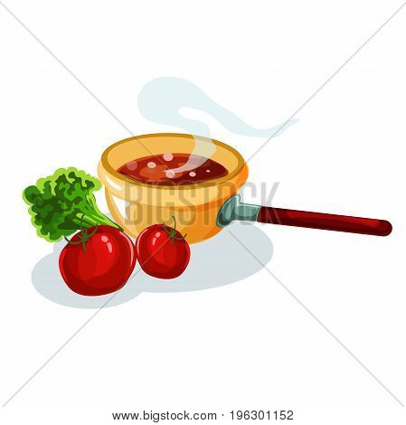 Vector illustration table for festive holiday romantic dinner. Flat style. Isolated on white background. Decorating feast dinner with various dishes.