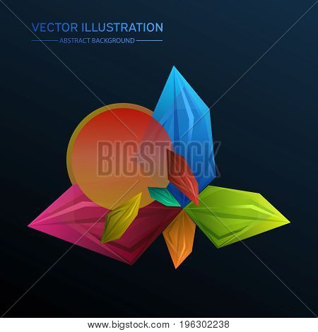 Abstract Facets. Perspective Geometric Unusual Background. Colourful Vector Illustration.