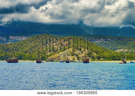 Ships In Phaselis