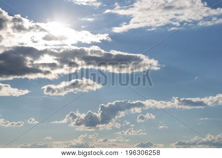 The sun came out from behind cloud
