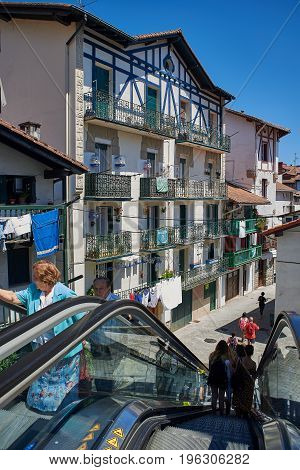 Antique Houses Of Hondarribia, Gipuzkoa, Basque Country, Spain.