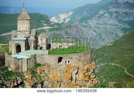 View on the ancient Tatev monastery Armenia