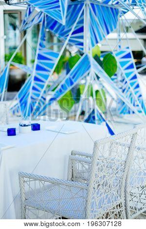 Beautiful elegant exterior design beach resort restaurant