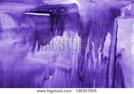 Abstract Lilac Watercolor On Paper Texture As Background