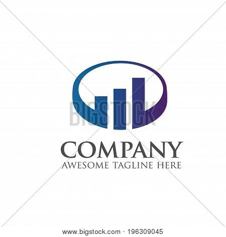 chart and bar Business finance logo concept, modern and simple chart and bar Business finance logo concept