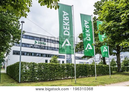 Hamburg , Germany - July 15, 2017: The DEKRA is an in the year 1925 established testing society