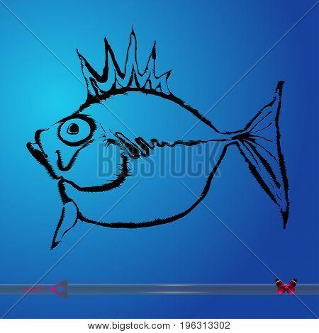 Vector fish. Vector illustration on white background